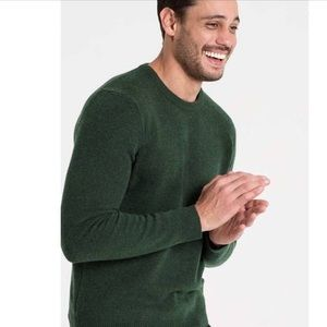 J CREW Lambswool Crew Neck Green Sweater
